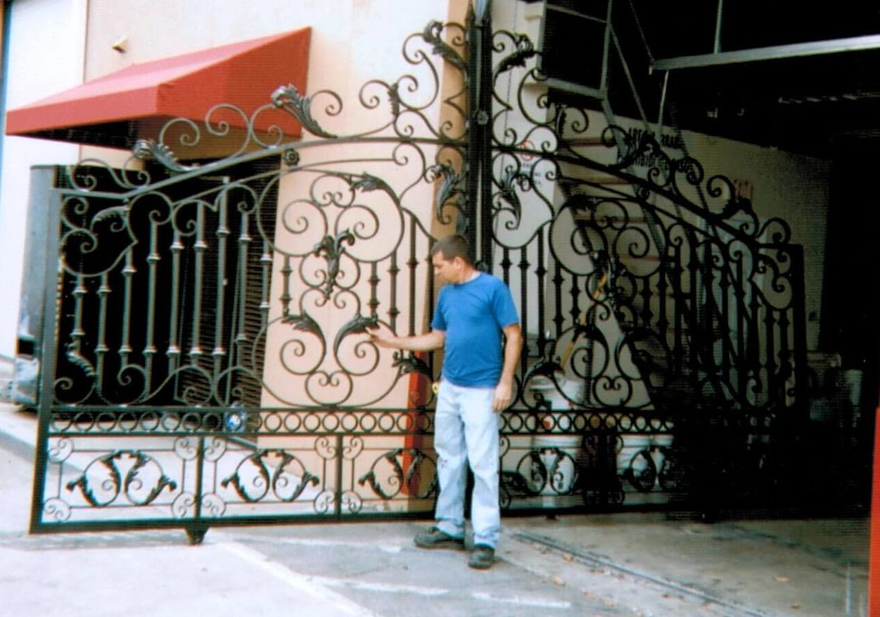 This is an image of an welded mechanical gate project we completed in Broward County in the 90s