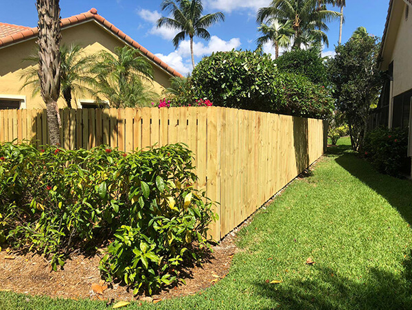 A wood fence installed in a home in Fort Lauderdale