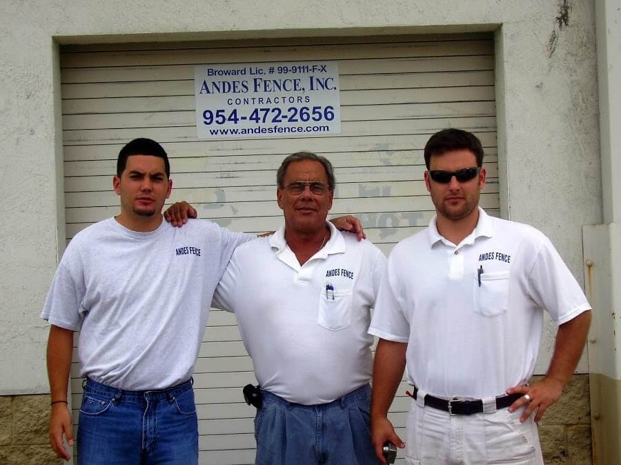 Picture of the Andes Fence team, family owned and operated since 1994.